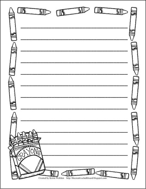 lined paper with simple border 9 free writing paper templates with borders and lines