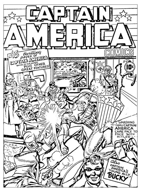 x coloring books captain america vs hitlerfrom the gallery books