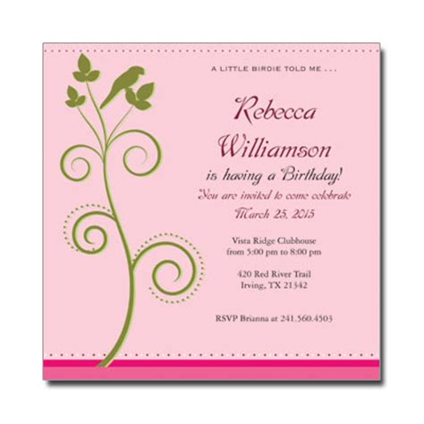 any age birthday invitationsadult birthday invitations personalized cards for any