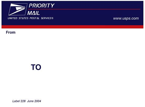 2004 Usps Label 228 Template Thought Id Put This Up For Th Flickr Usps Priority Label Template