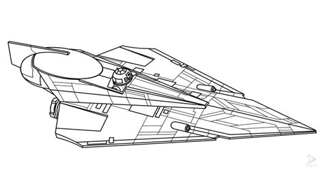 coloring page x wing jedi starfighter delta 7b part 1 valdore s drawings