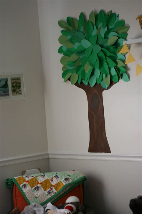 How To Make A Paper 3d Tree - 3d wall for toddler s room eliza domestica