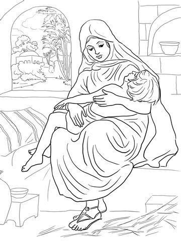 ELIJAH AND THE WIDOW WOMAN COLORING PAGES - Auto