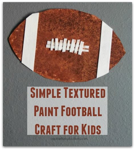 textured craft paint simple textured paint football craft for casa
