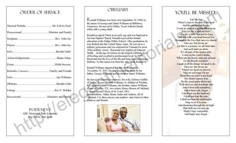 Obituary Wording Sle Obituary Funeral Programs Free Obituary Template Free Blank Funeral Free Homegoing Service Program Template