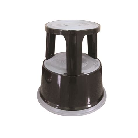 Metal Step Stool by Q Connect Black Metal Step Stool Kf04845