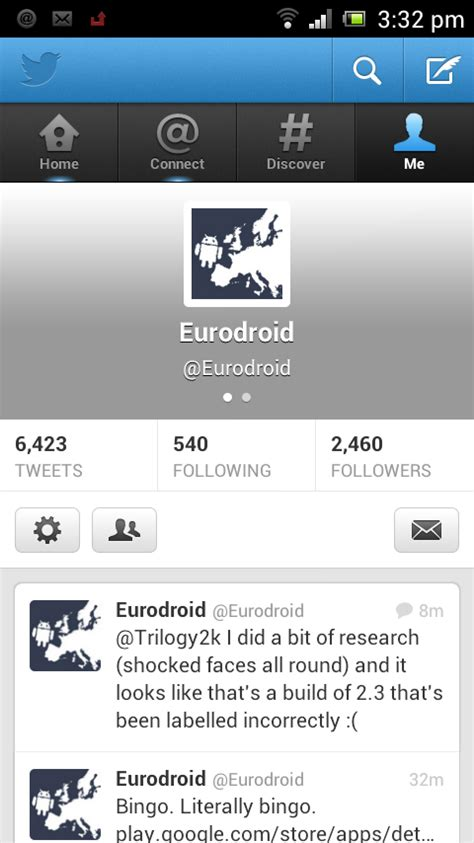 twitter layout android android twitter app updated with profile photo support and