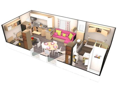 House Plan Gallery by Location Mobil Home 2 Chambres 4 Pers Normandie