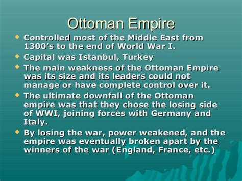 the end of the ottoman empire the end of the ottoman empire ss7h2a explain how