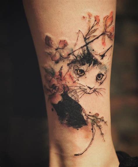 garden city tattoo 25 best watercolor cat ideas on cat