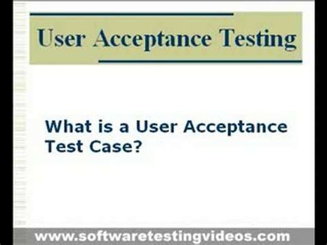 User Acceptance Testing in Software Testing Projects   YouTube