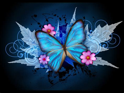 blue wallpaper with butterflies wallpapers blue butterfly art wallpapers