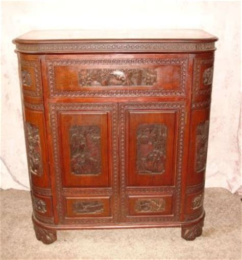 Open Bar Cabinet Antique Carved Fold Open Bar Liquor Cabinet Glass Holders Antique Price