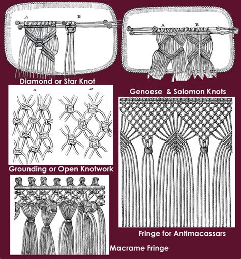Macrame Knots And Patterns - iva vintage reproductions sylvia s macrame lace c