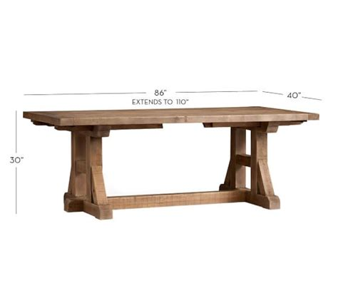 Stafford Reclaimed Pine Extending Dining Table Pottery Barn Pine Extending Dining Table