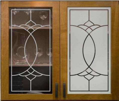 Glass Etching Designs For Kitchen | decorations accessories frosted glass for cabinet