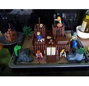 Ch&226teau Fort Playmobil En G&226teaux  Poupette Et Lulubelle