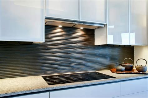 black graphic wavy kitchen backsplash design olpos design