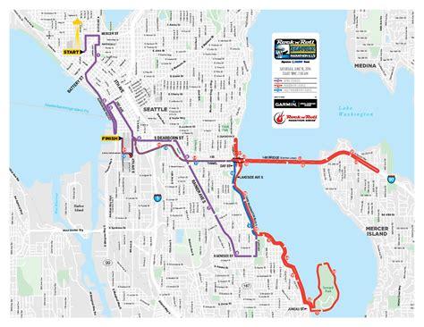 seattle marathon map hal jespersen s 2016 running page seattle rock n