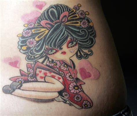 small geisha tattoo geisha