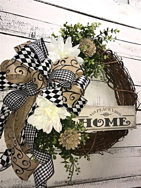 decorative ornaments for the home front door wreath all season wreath everyday wreath