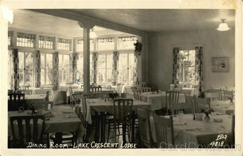lake crescent lodge dining room port angeles wa postcard