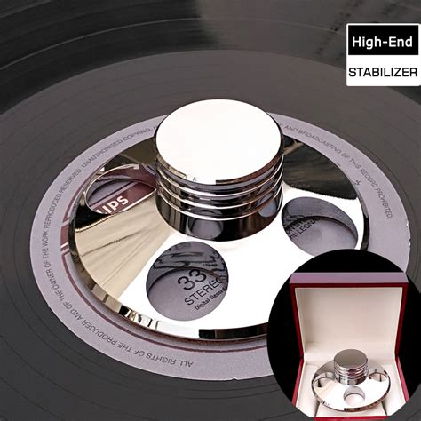 Kaos High Quality Lp deluxe high quality silver lp vinyl turntables metal disc stabilizer record weight cl with