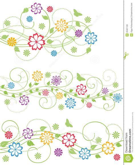 floral design elements vector set set of floral design elements vector illustration stock