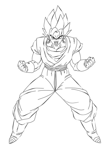 Vegito Coloring Pages vegito ssj3 coloring pics coloring pages