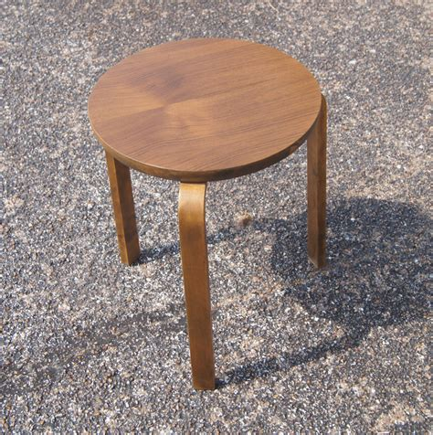 mid century modern alvar aalto bentwood stacking stool