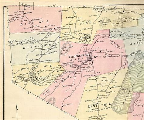 Franklin County Vt Detox by 1871 Franklin County Vt Map U S Customs And Border