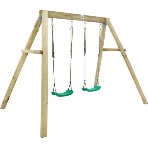 wooden double swing set lifespan holt double wooden kids swing set playset buy