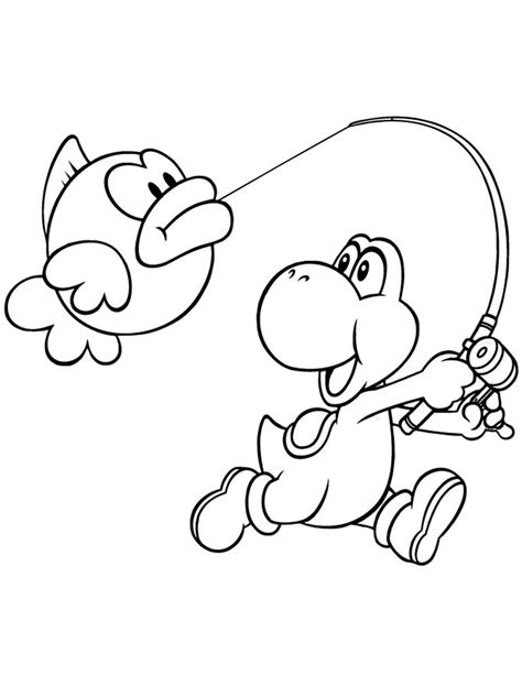 printable coloring pages of yoshi yoshi free colouring pages