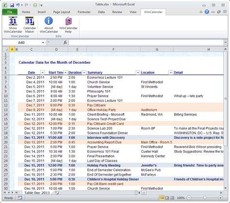 Calendar Into Spreadsheet Import Outlook Calendar Into Excel And Word