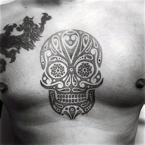 sugar skull tattoo for men 100 sugar skull designs for cool calavera ink