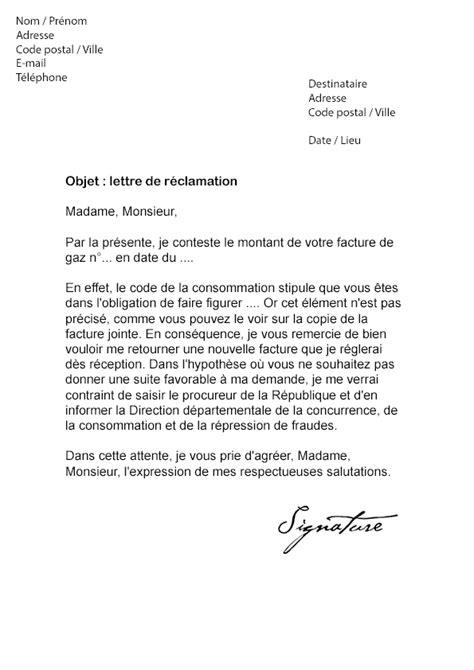 Demande De Facture Lettre Type Lettre De R 233 Clamation Engie Facture Non Conforme Mod 232 Le De Lettre