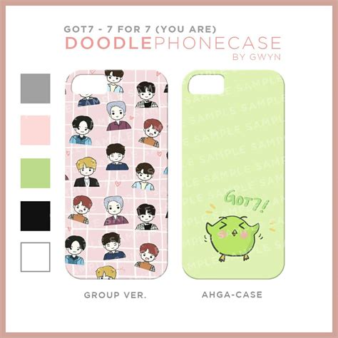 Hardcase Fullprint Iphone 7 closed got7 7 for 7 fangoods by doodly x got7indonesia