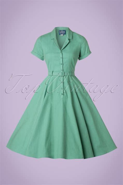 mint green swing dress 50s caterina swing dress in mint green