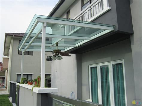 Harga Clear Shoo polycarbonate awning t beam glass roofing pergola