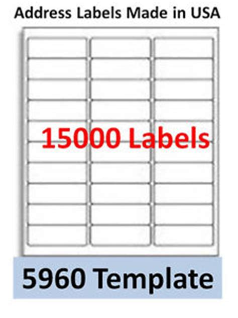 avery template 5960 15000 laser ink jet labels 30up address compatible with