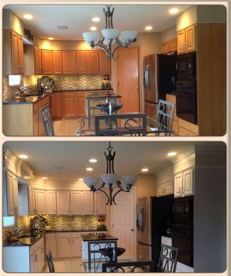 Kitchen Remodel Ideas Before And After 1000 Images About Solutions For Much Oak On
