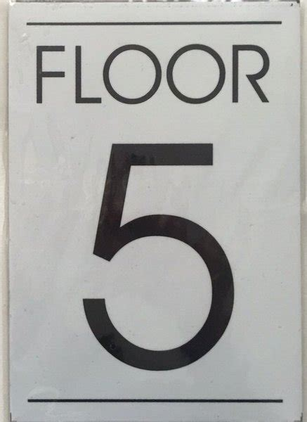 floor number department sign floor number five 5 sign white backgro department signs