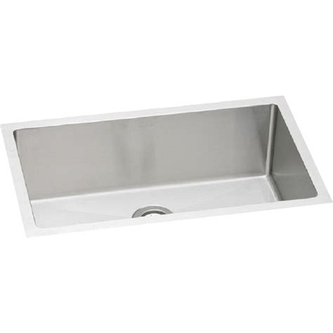stainless steel drop in utility sink elkay plafru281610 pursuit stainless steel single bowl