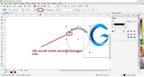 membuat tulisan pada video cara membuat teks melengkung pada corel draw fith text to