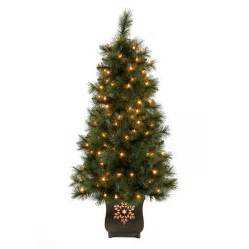 outdoor artificial trees with lights shop living 4 ft indoor outdoor pre lit pine