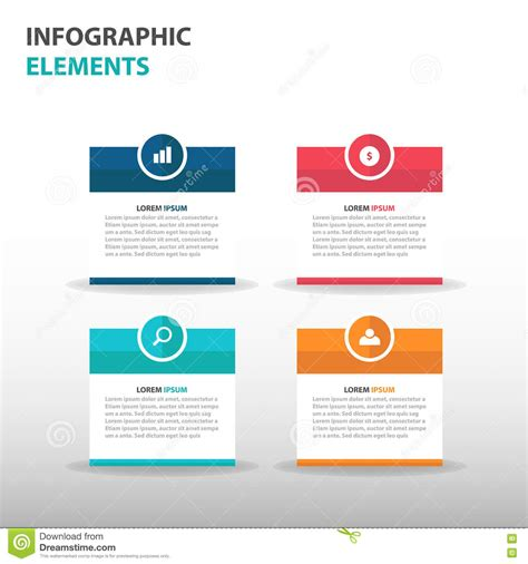 Abstract Text Box Business Infographics Elements Presentation Template Flat Design Vector Website Design Presentation Template