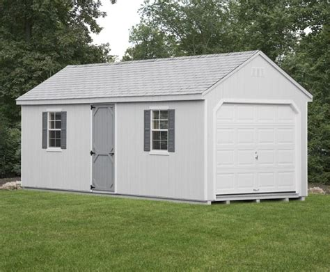 1 Car Detached Garage With Side Door Glick Structures Glick Garage Doors