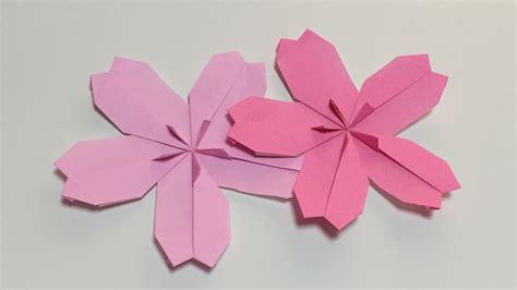 Origami Cherry - how to make a paper cherry blossom origami flower cherry