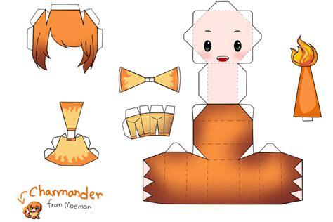 Charmander Papercraft - papercraft charmander template www imgkid
