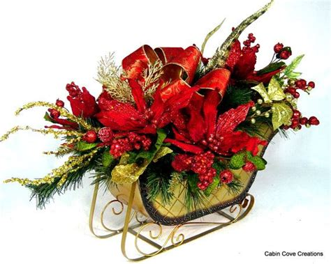 christmas hat floral 52 best sleigh images on centerpieces decorations and